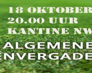 18 oktober: Agenda algemene ledenvergadering NWVV