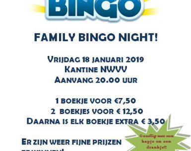 Vrijdag 18 januari: Bingo om 20.00 uur