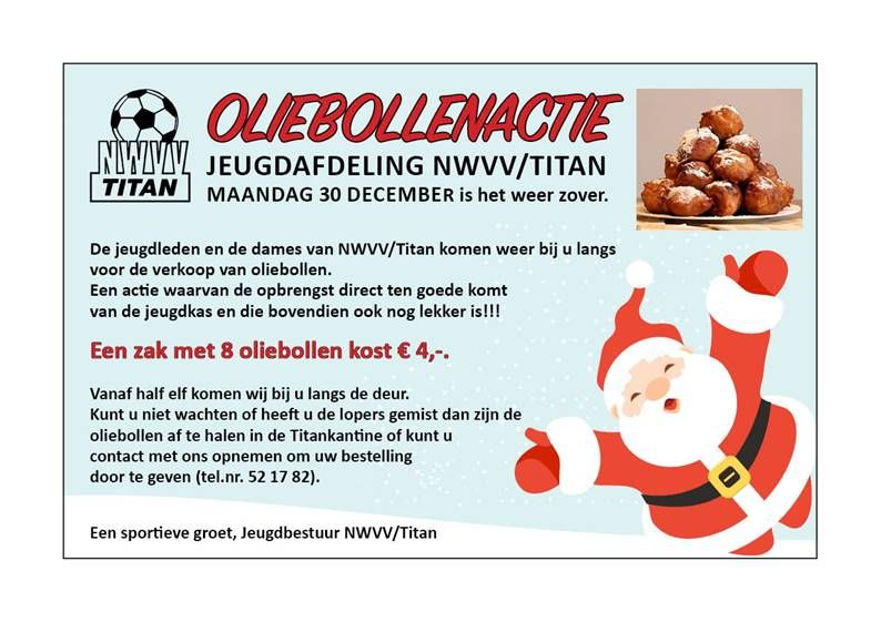 Oliebollenactie NWVV/Titan  30 december